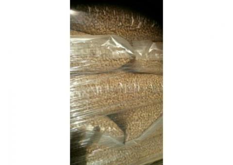 Пеллеты белые премиум класса 6-8мм для отопления